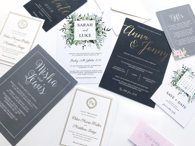 New wedding stationery