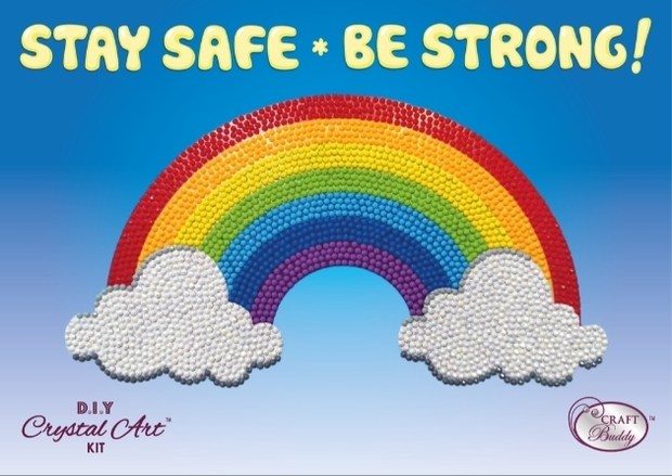 New Crystal Art Rainbow stickers to raise money for The Care Workers