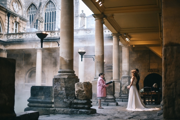 Explore Bath's iconic Roman Baths & Pump Room wedding venue