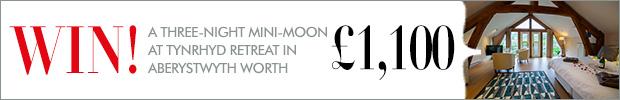 WIN! A three-night mini-moon for two at Tynrhyd Retreat in Aberystwyth