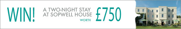 WIN! A two-night stay at Sopwell House, worth £750